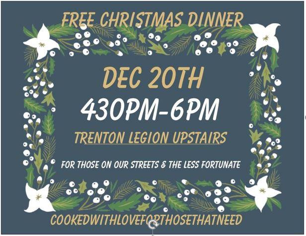 free Christmas dinner in Trenton